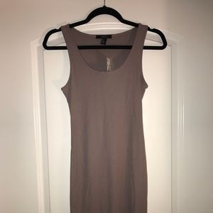 Forever 21 Brown Ribbed T-Shirt Dress